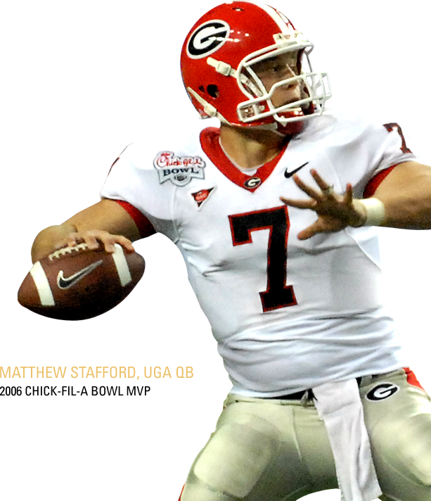 Matthew Stafford,  UGA QB. 2006 Chick-fil-A Peach Bowl MVP